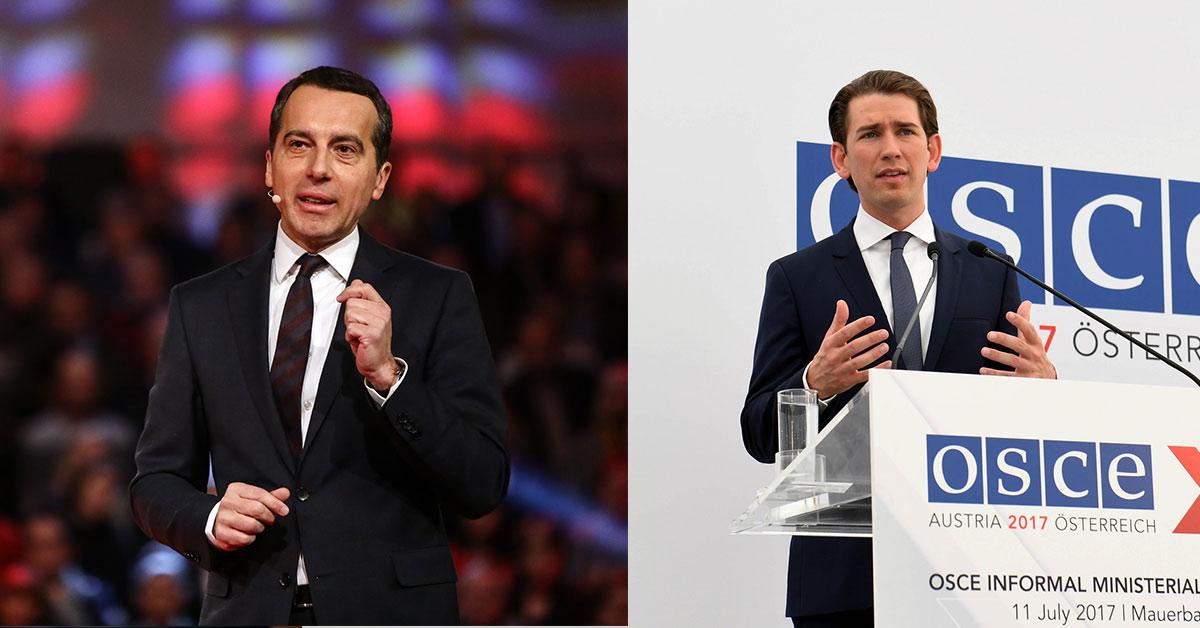 Auf diesem Bild sind 2 bekannte Gesichter der österreichischen Politik zu sehen.